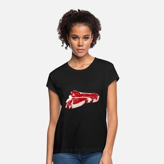 Game T-Shirts - Piece of Meat - Women's Loose Fit T-Shirt black