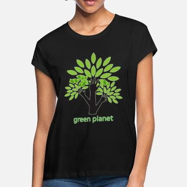 Eco Green Planet fighting for a clean environment - Women's Loose Fit T-Shirt