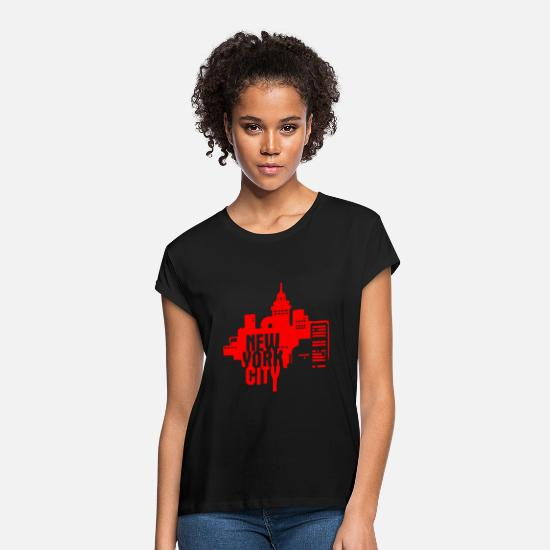 New T-Shirts - New York City - Women's Loose Fit T-Shirt black