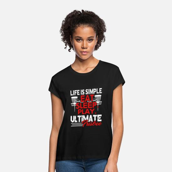 Ultimate T-Shirts - Ultimate Frisbee Tee Shirt - Women's Loose Fit T-Shirt black