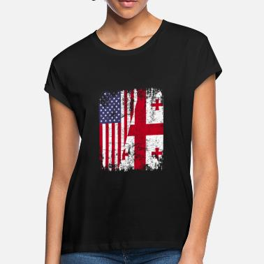 Georgian Flag GEORGIAN ROOTS | American Flag | GEORGIA - Women's Loose Fit T-Shirt