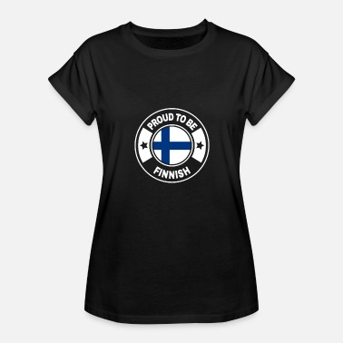 Finnish Finland Finland finnish flag banner gift - Women's Relaxed Fit T-Shirt