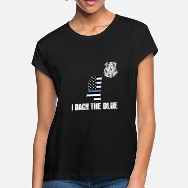 acf26171 Mississippi Police Appreciation Thin Blue Line I - Women's Loose Fit T.  Women's Loose Fit T-Shirt