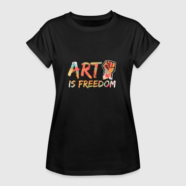 Young People Revolution Art is freedom - Women's Relaxed Fit T-Shirt