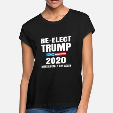 68f2c1b1 re elect trump 2020 make liberals cry again - Women's Loose Fit.  Women's Loose Fit T-Shirt