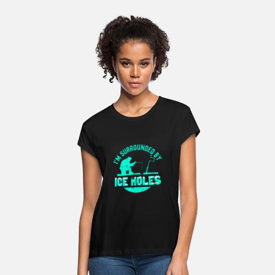 Gift Idea T-Shirts - Ice Holes - Women's Loose Fit T-Shirt black