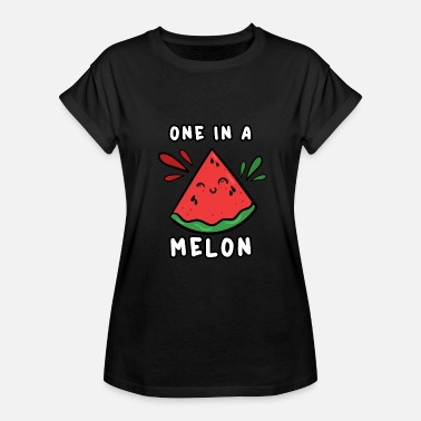 One In A Melon One in a Melon - Funny Cute Fruit Pun Watermelon - Women's Relaxed Fit T-Shirt
