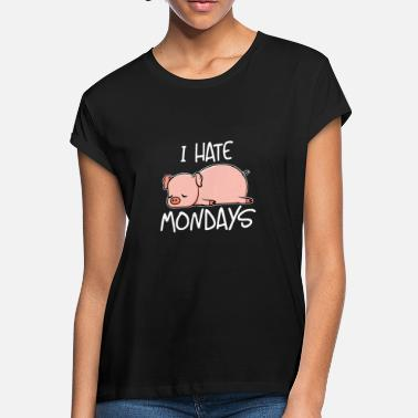 Berkshire Monday Cute Pig I Hate Mondays Pork Bacon Gift - Women's Loose Fit T-Shirt
