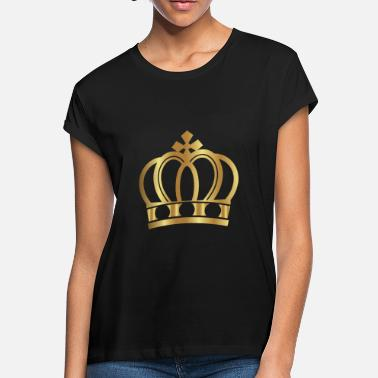 Lifestyle Golden Crown Gold Crowns Lifestyle King Queen Gift - Women's Loose Fit T-Shirt