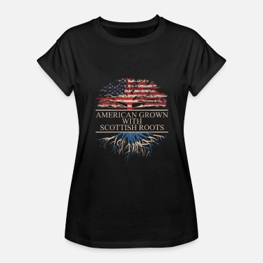 Scottish American Flag American grown with scottish roots - Women's Relaxed Fit T-Shirt