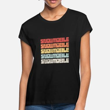 Retro 70s SNOWMOBILE Text - Women's Loose Fit T-Shirt