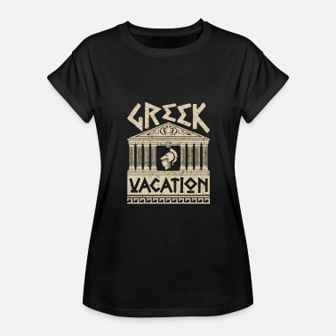Distressed Design Greek Vacation Distressed Greece Ruins Design - Women's Relaxed Fit T-Shirt