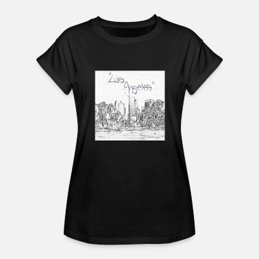 Downtown Los Angeles Los Angeles Downtown Skyscraper Cityscape Sunshine - Women's Relaxed Fit T-Shirt