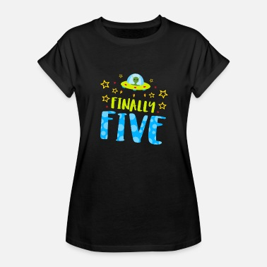 Finally Birthday Birthday - Finally Five Year Old Boy Birthday - Women's Relaxed Fit T-Shirt