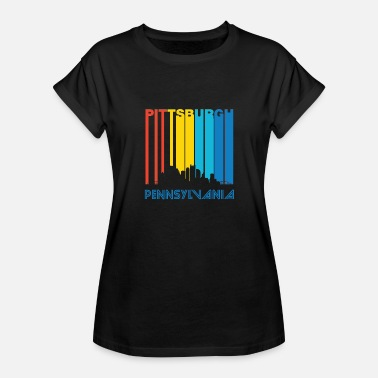 Pittsburgh Retro Retro Pittsburgh Skyline - Women's Relaxed Fit T-Shirt