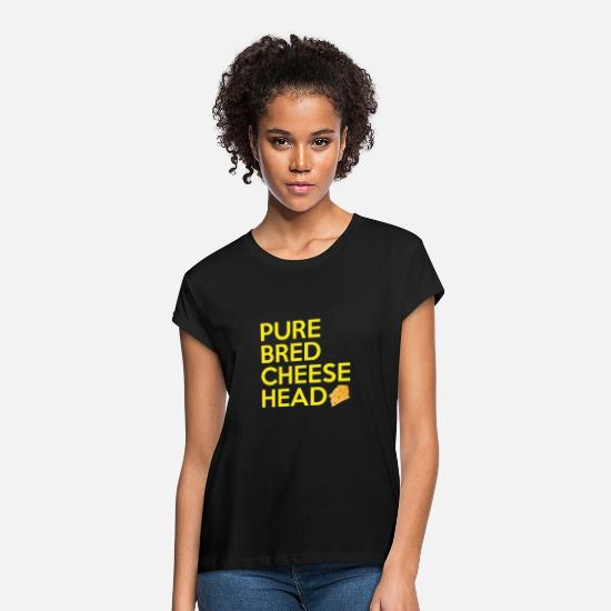 Bred T-Shirts - Pure Bred Cheese Head - Women's Loose Fit T-Shirt black