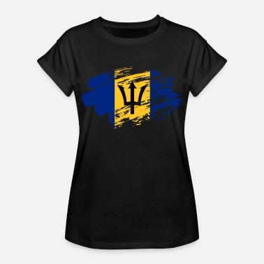 Badgalriri Barbados Flag Tee - Women's Relaxed Fit T-Shirt