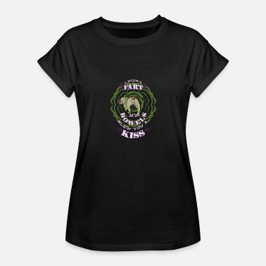Arse Jokes Bulldog Fart - Bowels Blew A Kiss - Funny Meme - Women's Relaxed Fit T-Shirt
