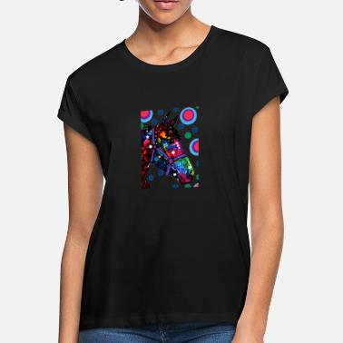 Psychedelic Horse Psychedelic Horse Equine Riding - Women's Loose Fit T-Shirt