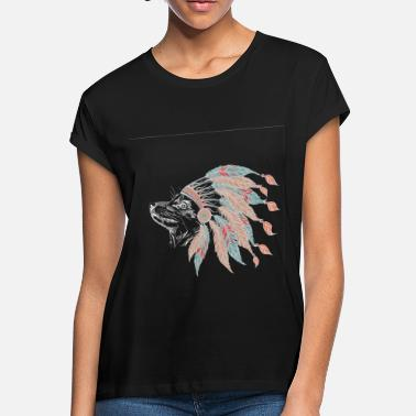 Reserve Native Fox Dog Indian Sketch Indians Native American - Women's Loose Fit T-Shirt