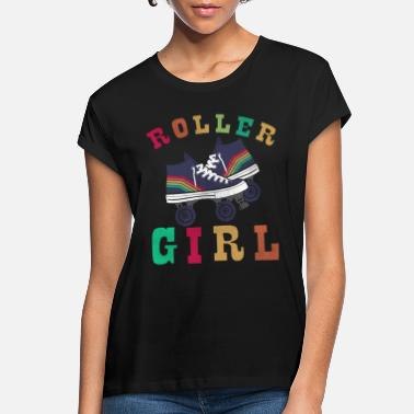 Skate Rollergirl in vintage /retro style like the old - Women's Loose Fit T-Shirt
