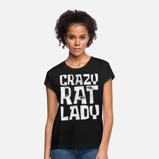 Rat T-Shirts - Rat Rat - Women's Loose Fit T-Shirt black