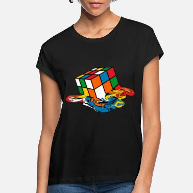 Cube Melting Rubik's Cube Toy - Women's Loose Fit T-Shirt
