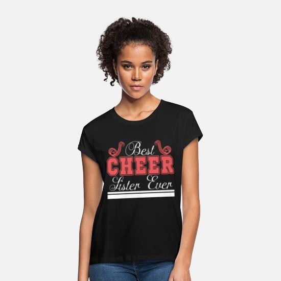 "Cheerleader T-Shirts - A sassy Tshirt Design for the ""Best Cheer Lister - Women's Loose Fit T-Shirt black"