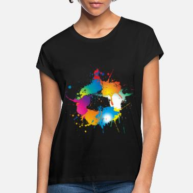 Color Colorful splashes of color make a circle - Women's Loose Fit T-Shirt