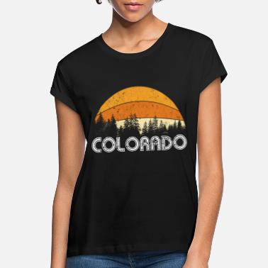 Mountains Colorado Tee Retro Vintage Mountains Nature Hiking - Women's Loose Fit T-Shirt