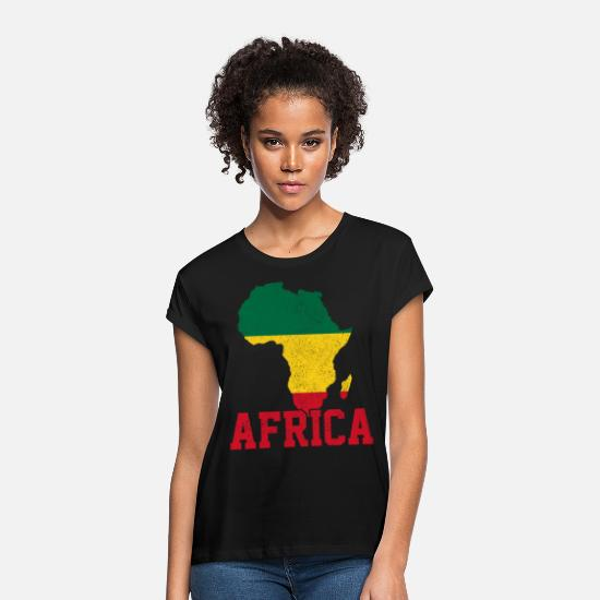 Continent T-Shirts - Africa - Women's Loose Fit T-Shirt black