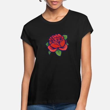 Rose red rose - Women's Loose Fit T-Shirt