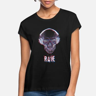 RAVE Skull Illusion Glitch - Women's Loose Fit T-Shirt