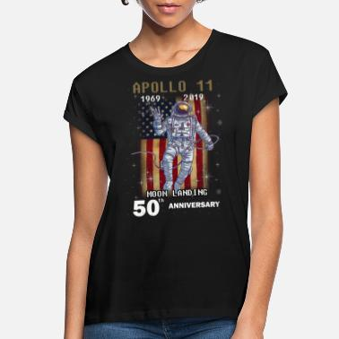 Moon Moon Landing Anniversary Print - Women's Loose Fit T-Shirt
