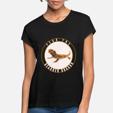 Reptile Fear the Bearded Dragon Lizard Reptile - Women's Loose Fit T-Shirt