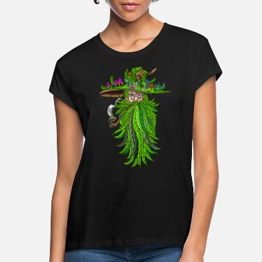 Weed Shaman Medicine Man Old Man Smoking - Women's Loose Fit T-Shirt