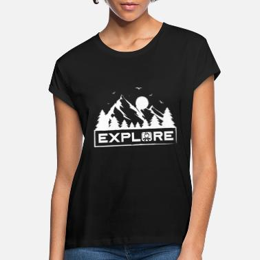 Moon Explore Mountains Nature Mountains Forest Camping - Women's Loose Fit T-Shirt