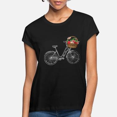 Basket Bicycle Flowers - Women's Loose Fit T-Shirt