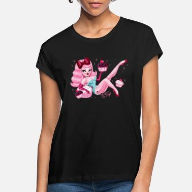 Decoration Pink Cupcake Pin Up Girl - Women's Loose Fit T-Shirt