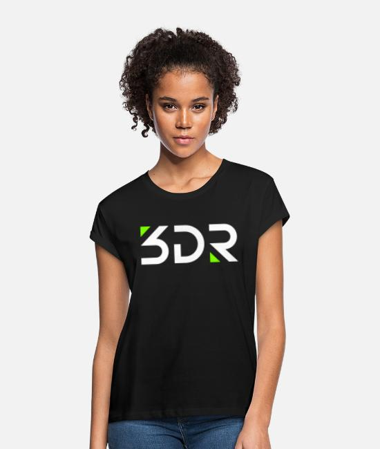 Lemonade T-Shirts - 3dr logo white - Women's Loose Fit T-Shirt black
