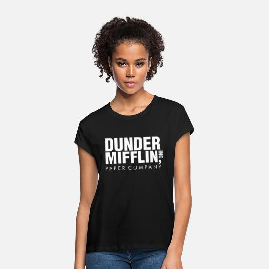 Dunder Mifflin T-Shirts - Dunder Mifflin Inc Paper Company - Women's Loose Fit T-Shirt black