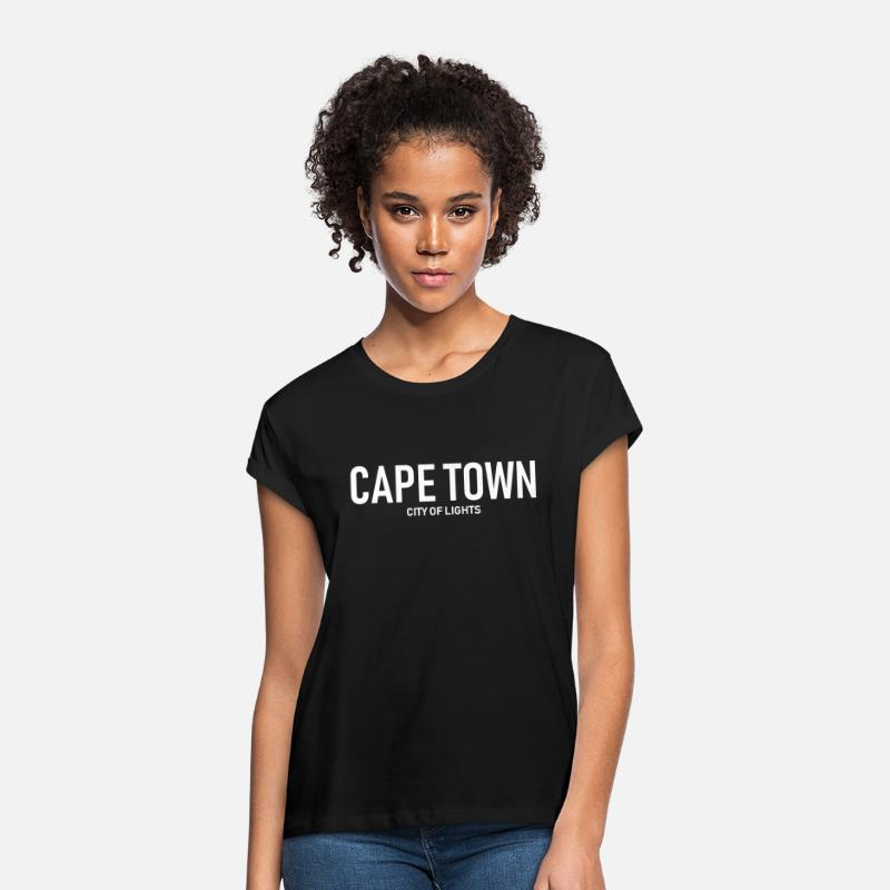 City T-Shirts - Cape Town - City of Lights - South Africa - Women's Loose Fit T-Shirt black