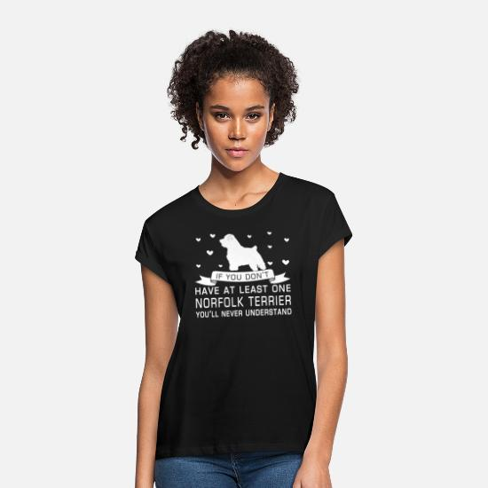 Love T-Shirts - Norfolk Terrier - Women's Loose Fit T-Shirt black