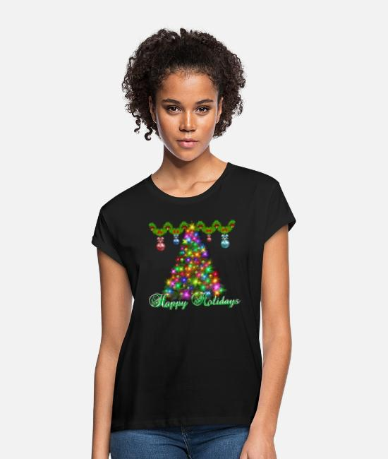 Happy Holidays T-Shirts - Happy Holidays - Women's Loose Fit T-Shirt black