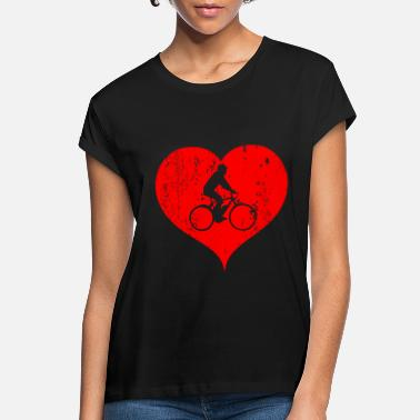 Eco E-Bike Bicycle Heart Love Gift - Women's Loose Fit T-Shirt