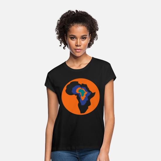 Continent T-Shirts - Customizable Continent - Women's Loose Fit T-Shirt black