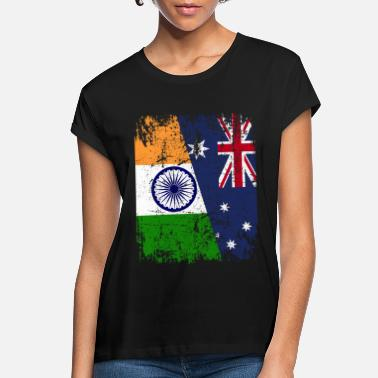 Indian AUSTRALIA INDIA FLAG - Half Indian - Women's Loose Fit T-Shirt