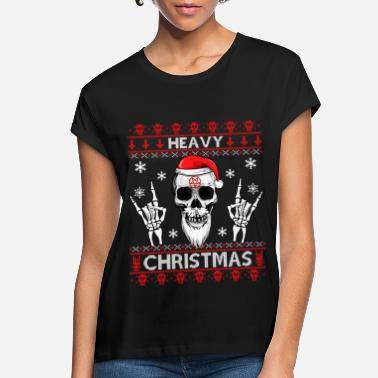 Heavy HEAVY CHRISTMAS - UGLY XMAS SWEATER METAL HEAD! - Women's Loose Fit T-Shirt