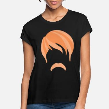 Haircut Beard Red Hairstyle Haircut Silhouette - Women's Loose Fit T-Shirt