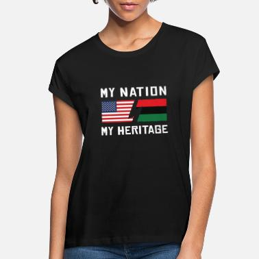 Heritage My Nation US - My Heritage African - Women's Loose Fit T-Shirt